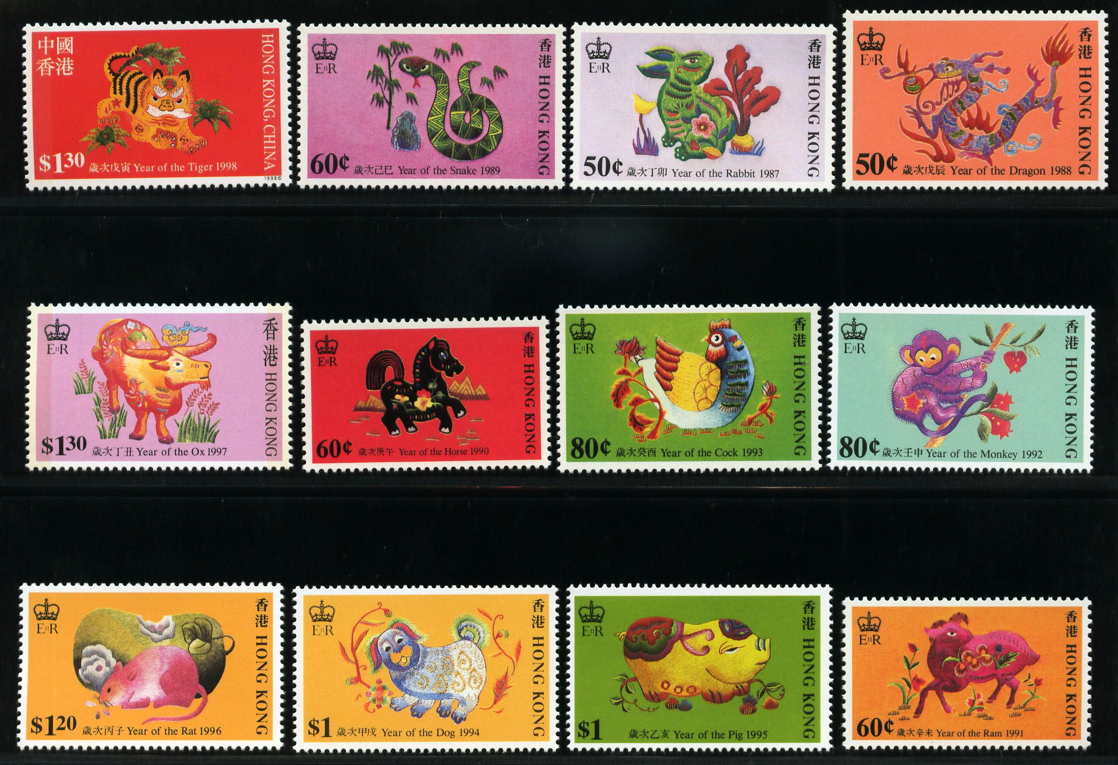 十二生肖邮票图片_十二生肖邮票价格