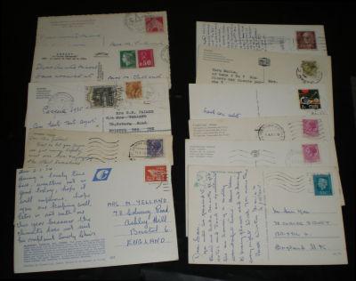 欧洲各国风景实寄明信片11枚