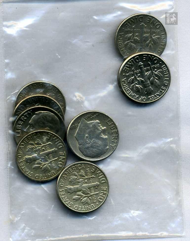 美元1角硬币八枚_拍品详细